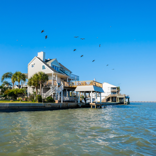 Waterfront homes in Rockport, TX