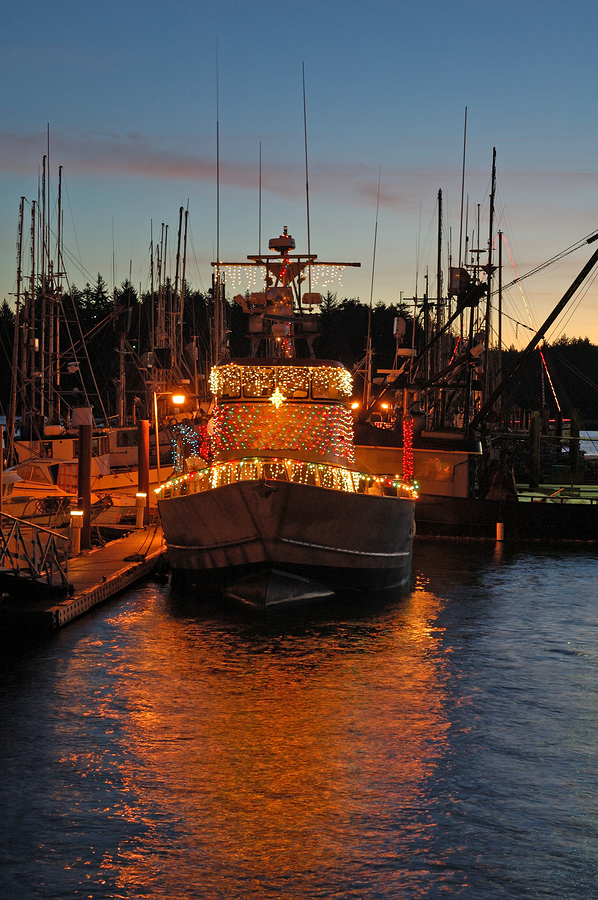 Rockport christmas boat